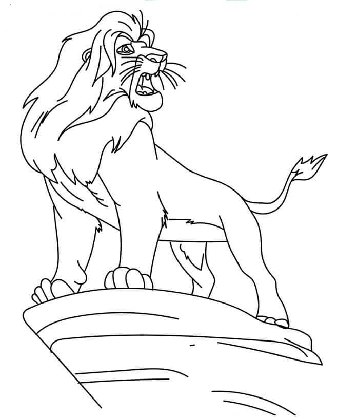 Simba Coloring Pages Printable