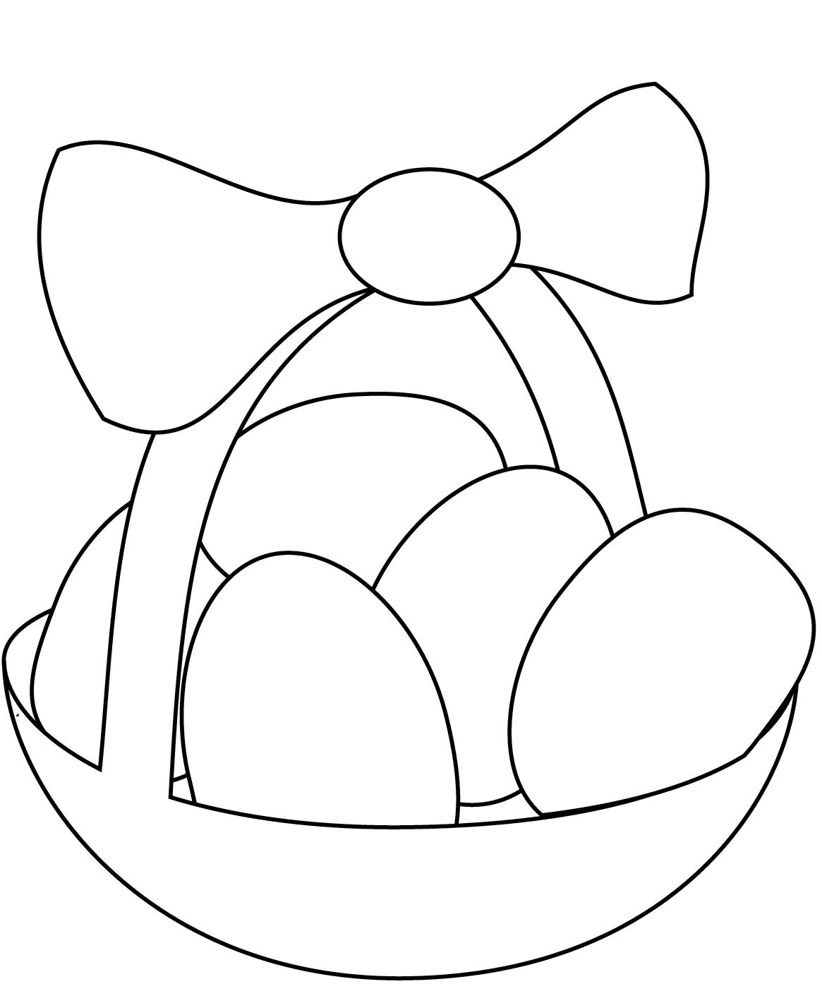Simple Easter Basket Coloring Page