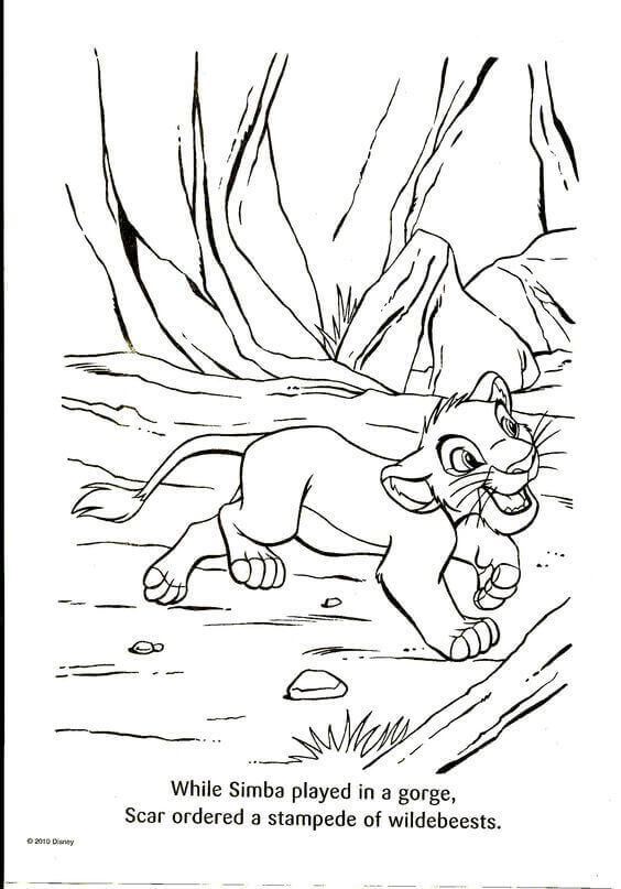 The Lion King Colouring Pages