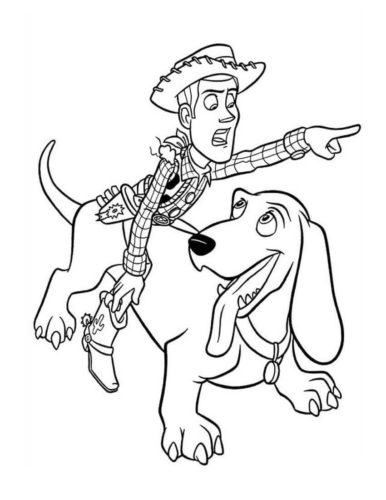 Toy Story Film Coloring Page