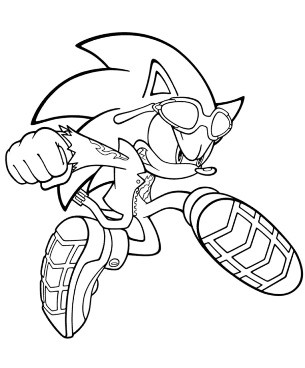 Black Sonic Coloring Page