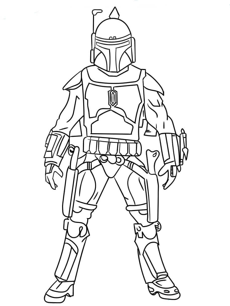 30 Free Star Wars Coloring Pages