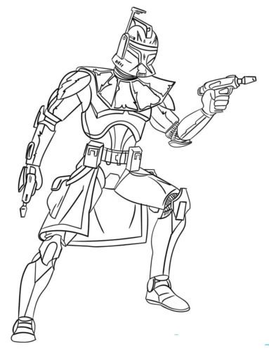 Captain Rex from Star Wars coloring page