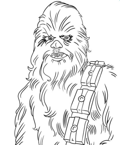 Chewbacca coloring page printable