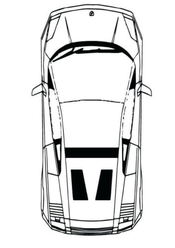 Coloring Page Of Lamborghini Car