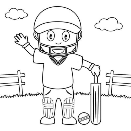 Cricket Colouring Pictures To Print
