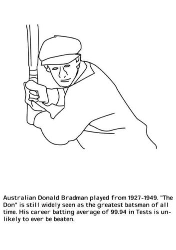 Donald Bradman Coloring page