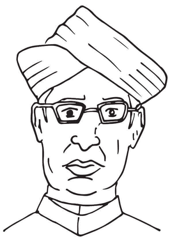 Dr. Sarvepalli Radhakrishnan Coloring Page