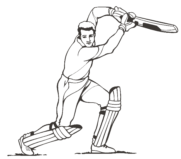 Free Printable Cricket Colouring Page