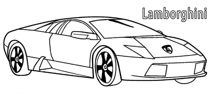 Free Printable Lamborghini Coloring Page