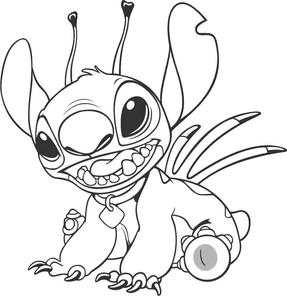 Free Printable Stitch Coloring Pages