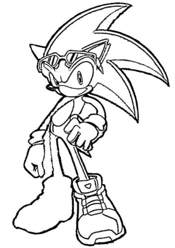 Free Sonic Coloring Pages