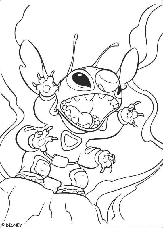 Furious Stitch Coloring Page
