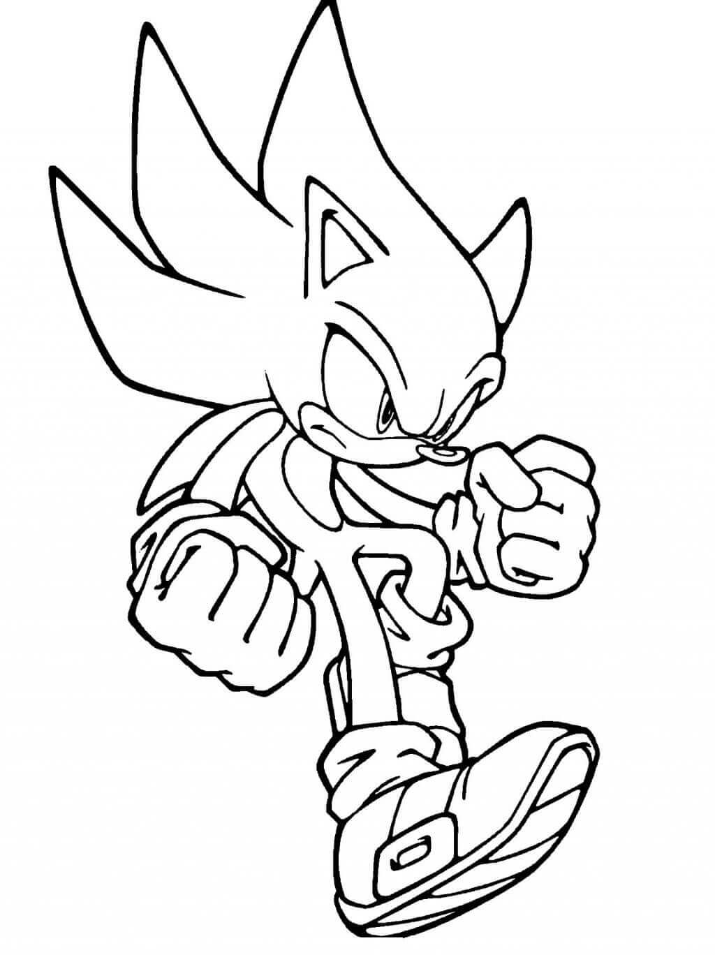 gold sonic coloring pages - photo#24