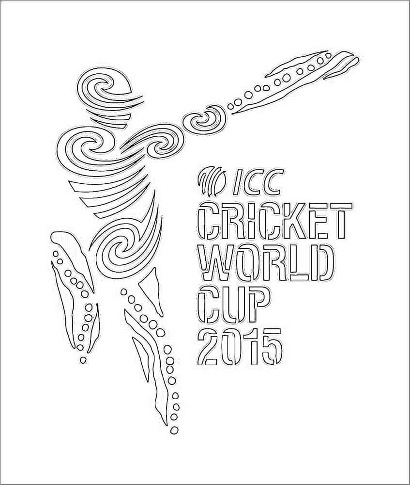 ICC Cricket World Cup 2015 Coloring Page