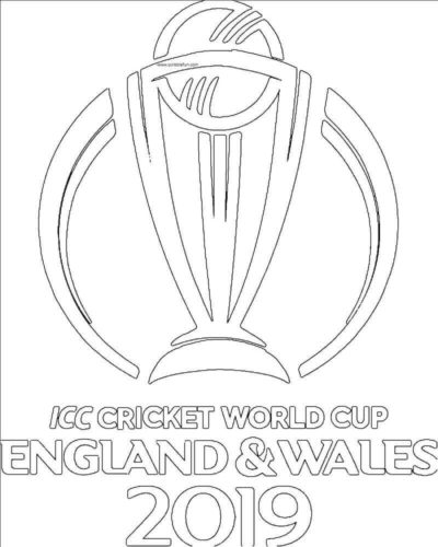 ICC Cricket World Cup 2019 Coloring Page Printable