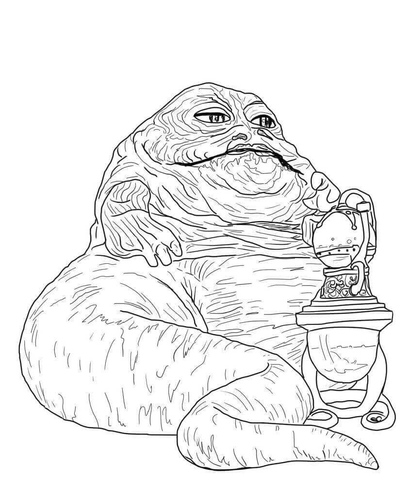 Jabba the Hutt coloring page