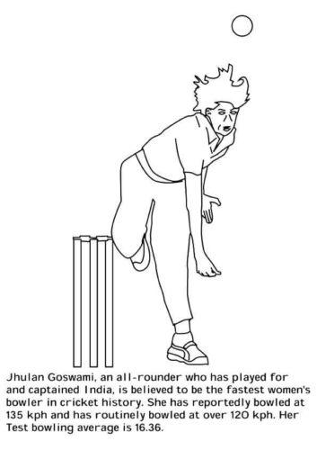 Jhulan Goswami Coloring Page