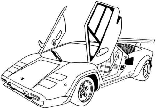 Lamborghini Car Coloring pages