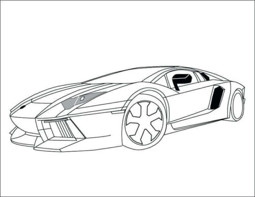 Lamborghini Coloring Page For Adults