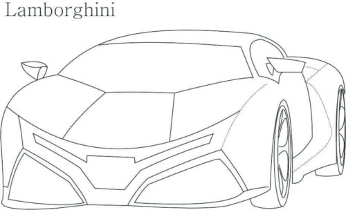 Lamborghini Coloring Page For Kids