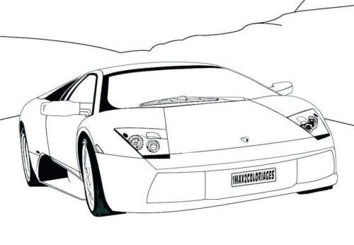 Lamborghini Coloring Page Free Printable