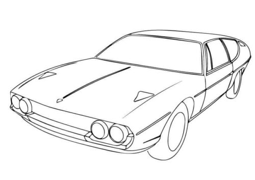 Lamborghini Espada To Color