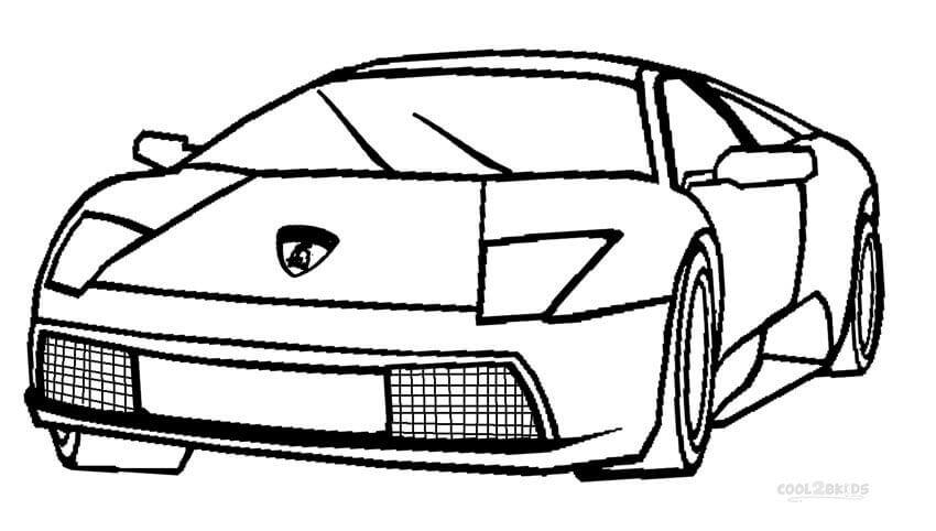Lamborghini Gallardo Coloring Pages