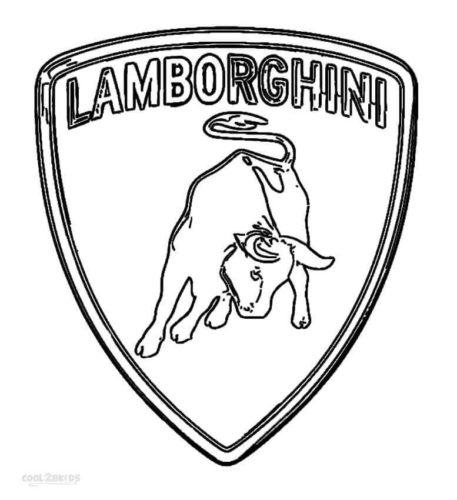 Lamborghini Logo Coloring Page