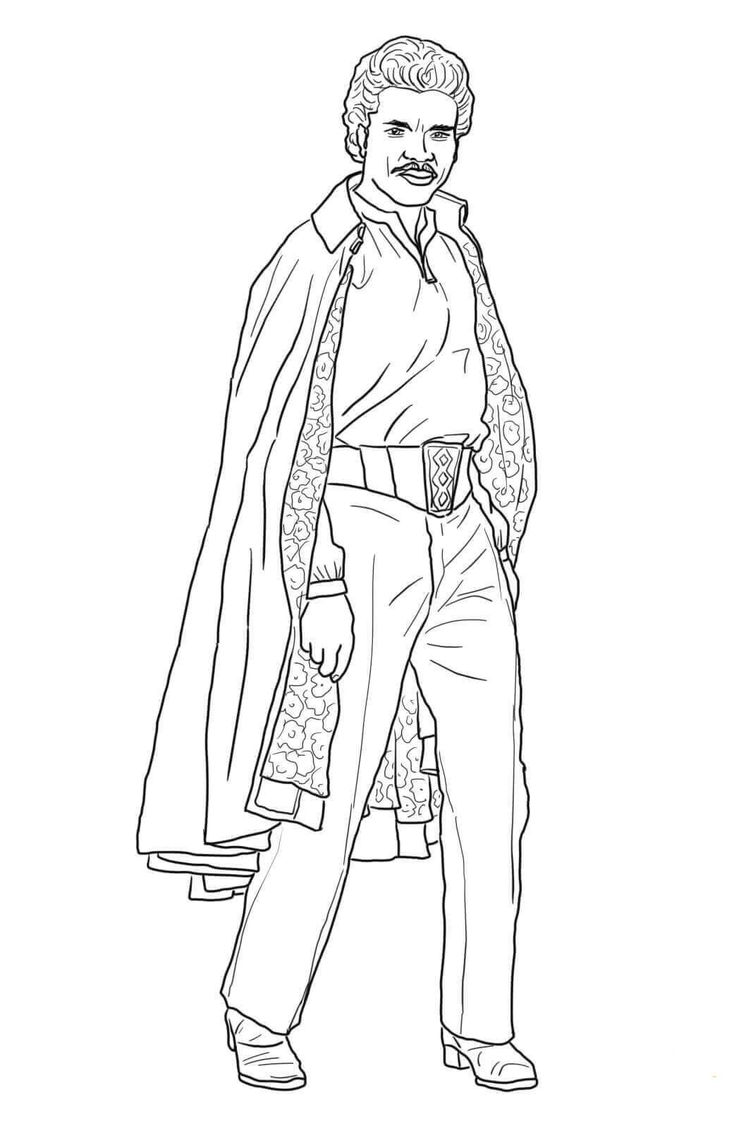 Lando Calrissian coloring page