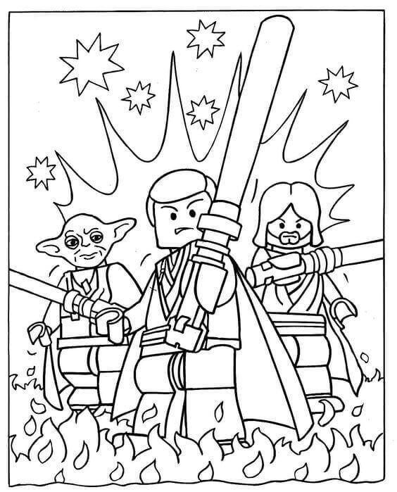 Lego Star Wars coloring page printable