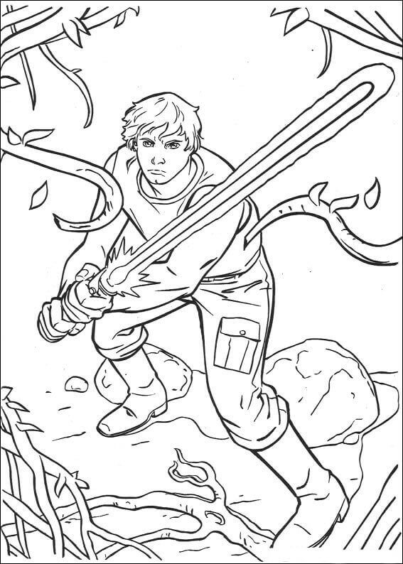 Luke Skywalker coloring sheet