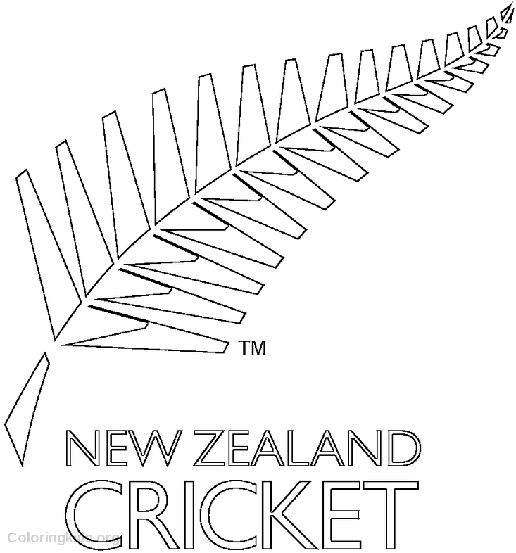 New Zealand Cricket Team Logo Coloring