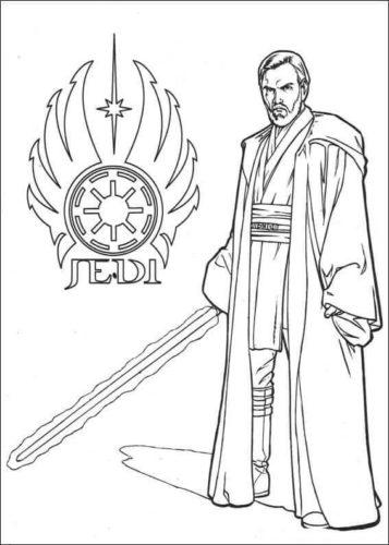 Obi Wan Kenobi coloring page