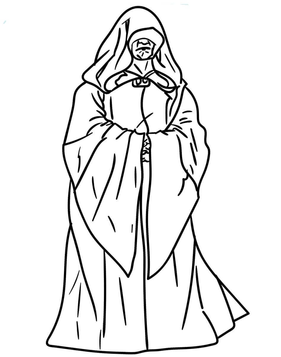 Palpatine from Star Wars coloring page