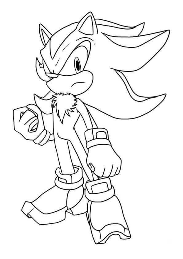 Shadow The Hedgehog Coloring Page