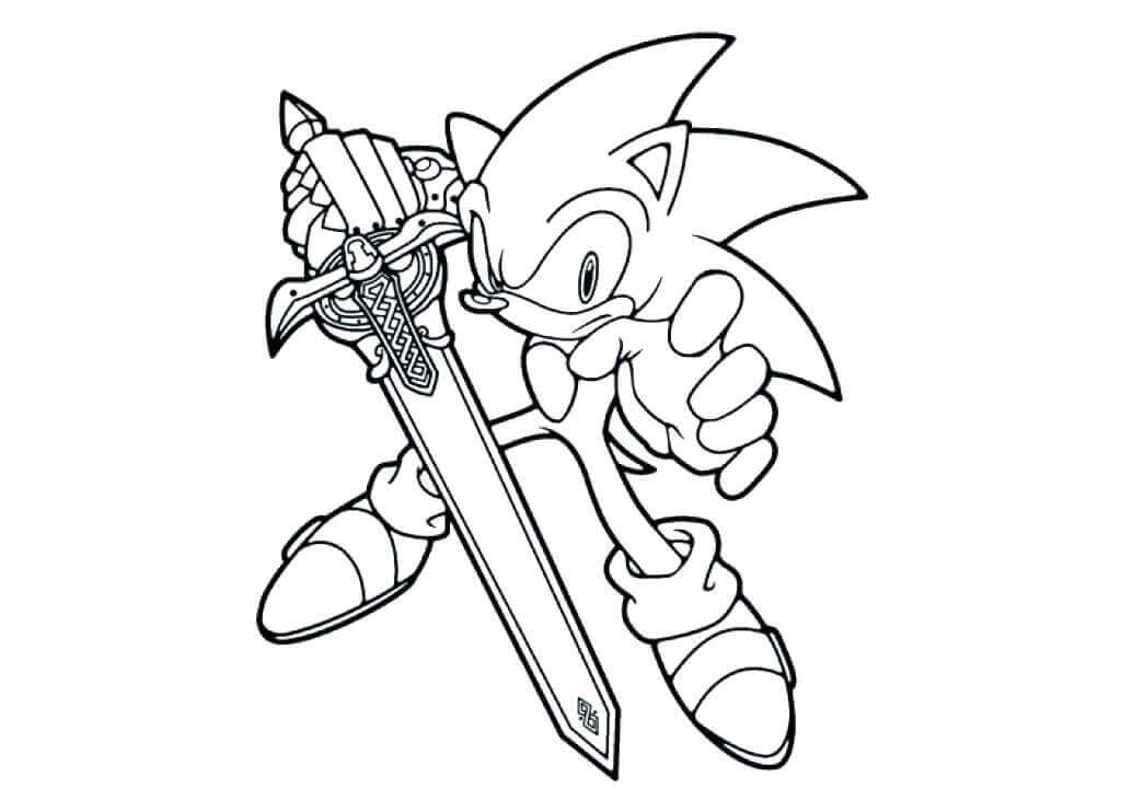 Sonic Coloring Pages To Print