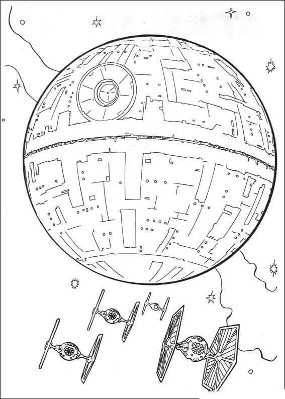 Star Wars Death Star Coloring Page