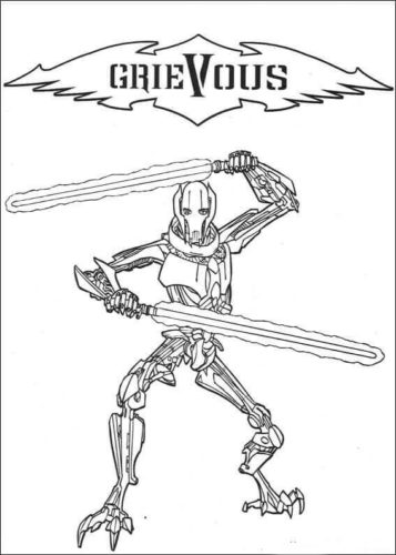 Star Wars General Grievous coloring page