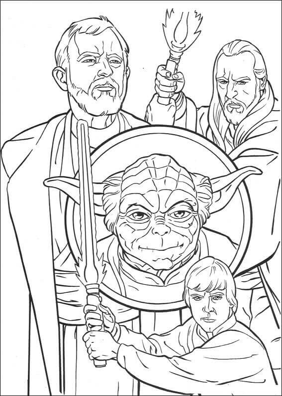 Star Wars Trilogy Coloring Page