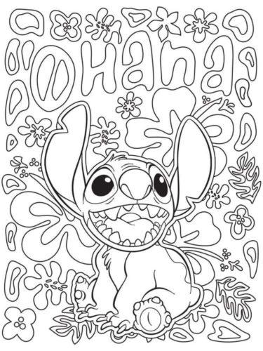 Stitch Ohana Coloring Page