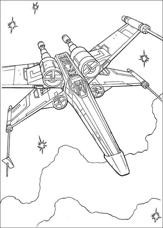 T 65 X wing starfighter coloring page