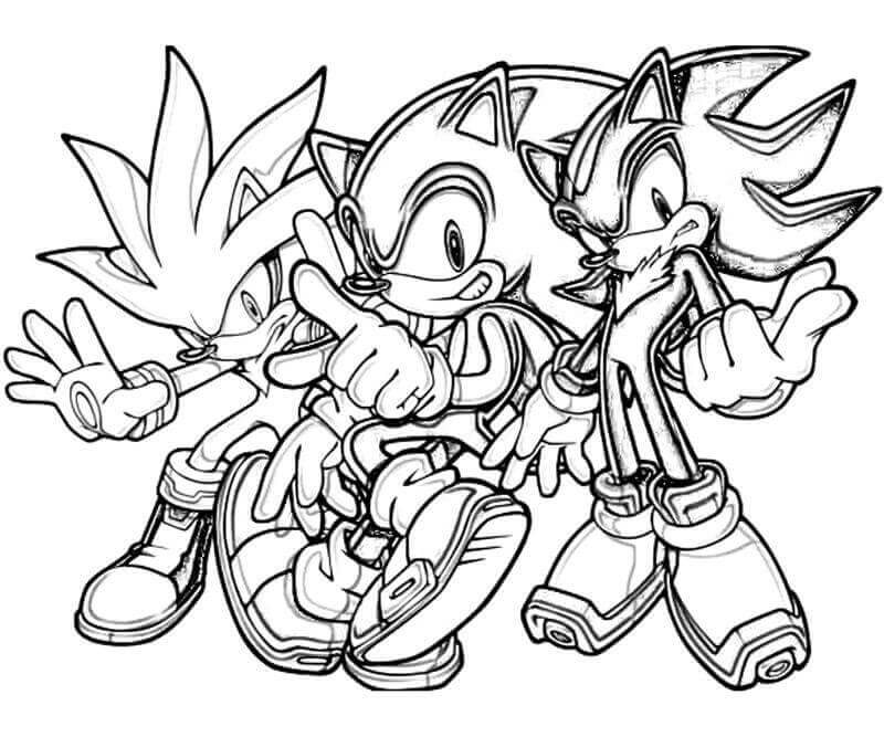 The Hedgehog Team Coloring Page