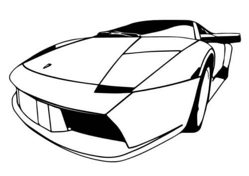 The Lamborghini Diablo Coloring Picture