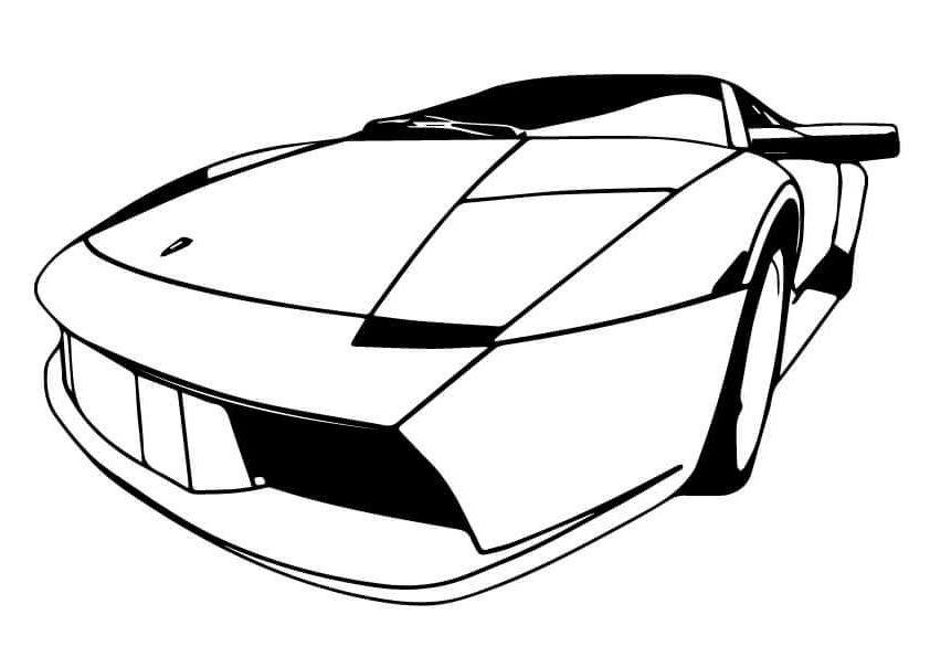 lamborghini diablo coloring pages | 20 Free Lamborghini Coloring Pages Printable