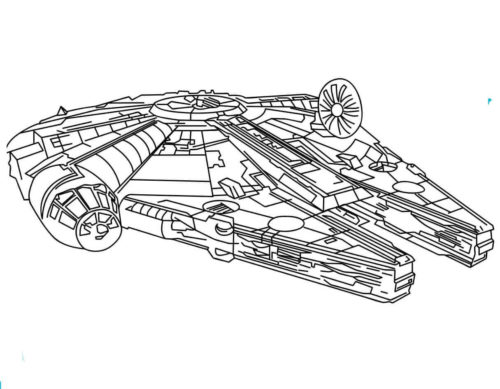 The millennium falcon coloring page