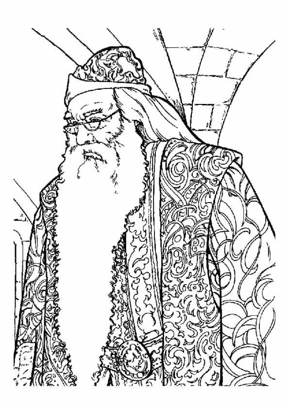 Albus Dumbledore from Harry Potter coloring picture