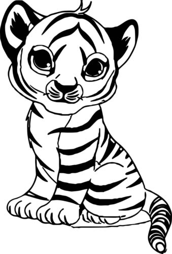 tiger coloring pages to print tiger printable coloring pages ... | 500x339