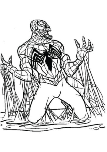 Black Spiderman Coloring Page
