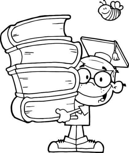 Boy Graduating Coloring Page